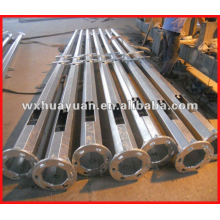 Octagonal tapered steel pole