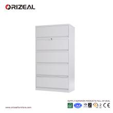 Classeur latéral vertical d'Orizeal 5 tiroirs avec la serrure anti-titrée (OZ-OSC015)