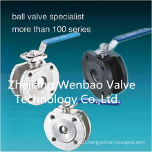 Q71f Investment Casting Wafer Type Flanged Ball Valve Pn16