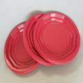 """6 """"6.5"""" 9 """"Plato de PP rojo colorido desechable"""