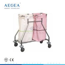 AG-SS019 2 Boxen Theater Ausrüstung Krankenhaus Trolley Schminktisch Metall Stahl Wagen