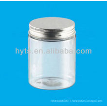 250ml plastic pet cosmetic jar with aluminium cap