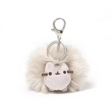 PLUSH CAT POM POOF KEY CHAIN-0