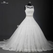 RSW951 последние дизайн свадебное платье свадебное платье с кристально пояса