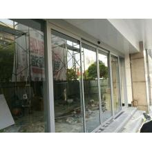 Best prices balcony glass automatic sliding telescopic door