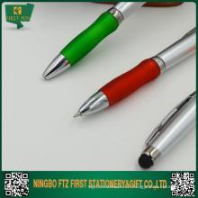 2015 Nouveau stylo plastique 2 en 1 pour promotion