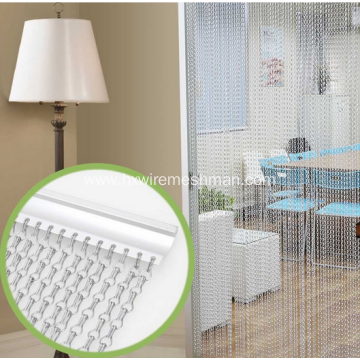 Fashional Double Hook Aluminium Chain Link Curtain