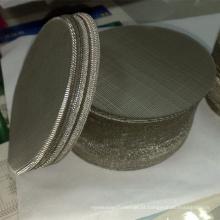 Malha de arame holandesa de aço inoxidável do filtro do disco