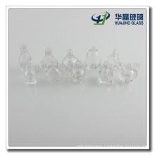 Clear Empty Custom Nail Polish Glass Bottle with Brush