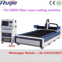2016 Acier inoxydable à grande vitesse Acier au carbone Acier doux 500W 1200W Machine de découpe laser à fibre (RJ-1325 RJ1530)