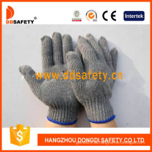 Dunkelgraue Baumwolle / Polyester Liner. 7Gauge. Handschuhe (DCK503)
