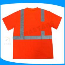 Classe 2 camisa reflexiva de alta visibilidade, manga curta segurança T-shirt, ANSI tee shirt de segurança