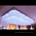 Customized contemporary chandelier lighting square crystal ceiling lamp16414