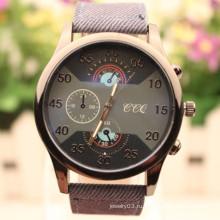 Китай оптовые случайные кожаные кварцевые наручные часы бизнес-часы для мужчин