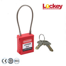 OEM China High quality for Keyed Alike Padlocks Stainless Steel Cable Security Locks export to Greece Factories