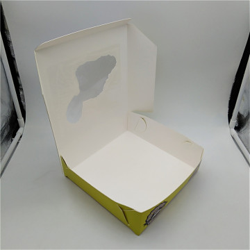 Paperboard Window Pie ​​Box dengan PE Lock Corner