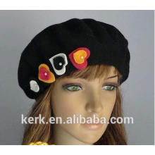 2015 new high quality winter angora custom berets knit hat wholesale