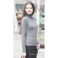 Suéter de cachemira de punto de las mujeres (1500002017)