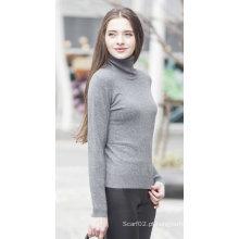 Camisola feminina de malha de cashmere (1500002017)