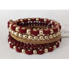 Big Red Bracelet with Metal