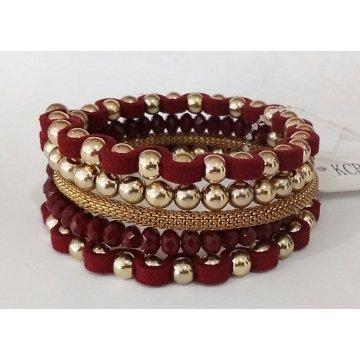 Big Red Bracelet with Metal