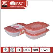 Novo! Recipiente de alimento plástico microondas (2pcs) 0,95 L
