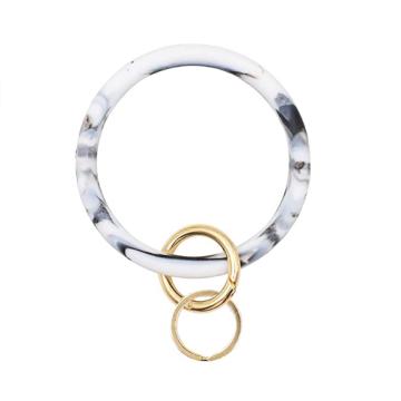Porte-clés bracelet en silicone personnalisé