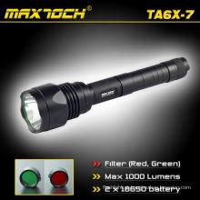 Maxtoch TA6X-7 1000LM XML T6 caça tático tocha de diodo emissor de luz