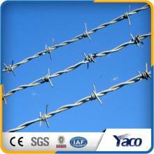 Arame farpado galvanizado do diâmetro do fio de 1,8 milímetros 2,3 milímetros 2,5 milímetros para a cadeia