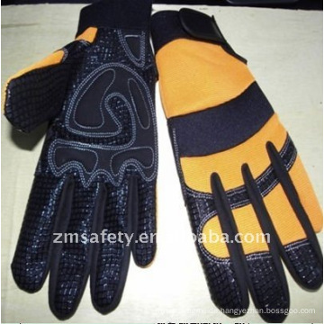 Heavy duty gloves with silicone printing JRM25