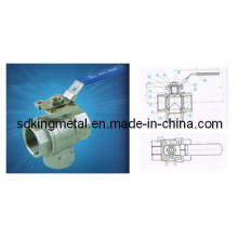 3 Way Ball Valve with Mounting Pad