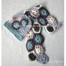 Moda Mulheres Knit Scarf Sets