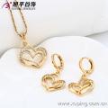 62814 Parures de bijoux en plaqué or 18K, cœur élégant Xuping Fashional