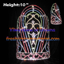 10inch Rainbow Colorful Pageant Crowns