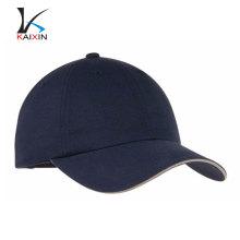 gorra de golf de algodón al aire libre a medida llano gorra de béisbol en blanco