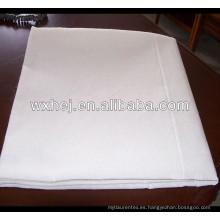 tela plana de algodón blanco y plano para hotel