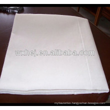 plain white cotton flat sheet fabric for hotel