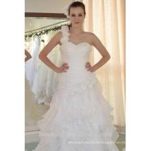 EN STOCK Vestido de novia del hombro sin mangas Vestidos de novia asimétricos SW91