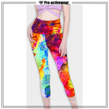 Low MOQ Women Plus Size Fitness Capri Leggings
