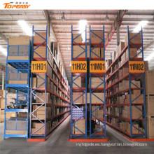 sistema de estantería de almacenamiento con contenedor