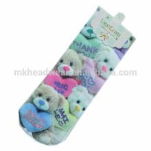 100% algodón hecho a mano a granel Venta al por mayor de calcetines personalizados