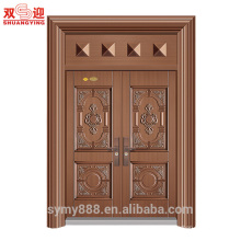 Puerta principal exterior de doble cara de acero del diseño de la puerta principal de China
