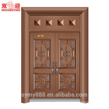 Villa entrance door one and half leaf door steel doors