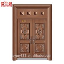 China porta principal design aço duplo lado abrindo a porta exterior