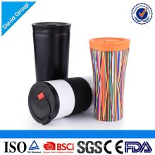 Tasse isolée de boisson de Drinkware d'acier inoxydable de voyage de catégorie comestible avec le couvercle étanche de fuite