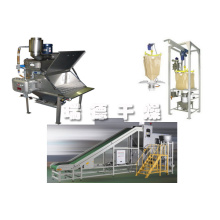 Charcoal particle tons bag packing machine