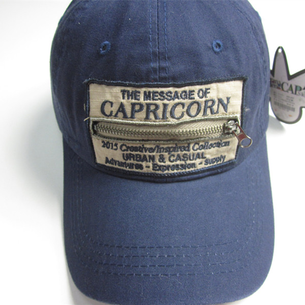 Zipper Pocket Sports Cap