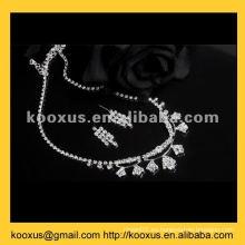 Conjunto de joyería de cristal de la boda
