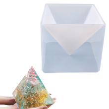 DIY crafts decorations art handmade epoxy candle wax silicone mould large pyramid resin mold