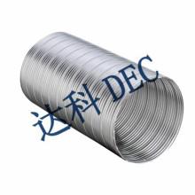 Fire resistant semi rigid flexible aluminum duct